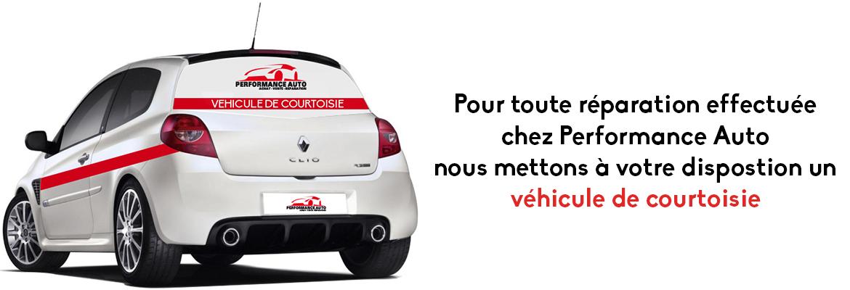 Voiture de courtoisie Performance Auto dans les Yvelines